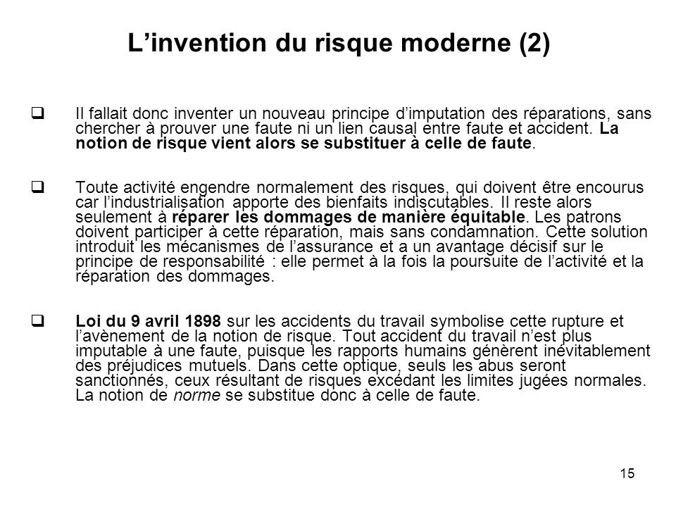 L'invention du risque moderne (2)