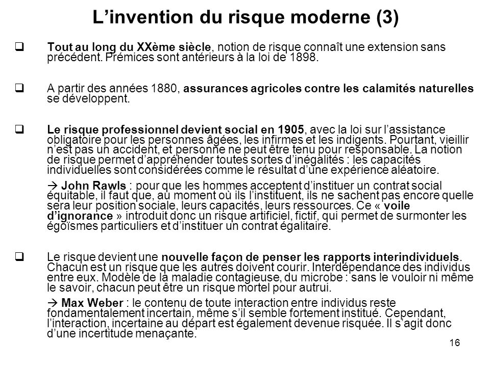 L'invention du risque moderne (3)