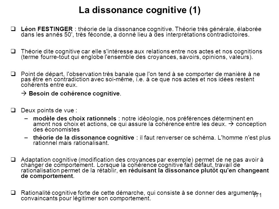 La dissonance cognitive (1)