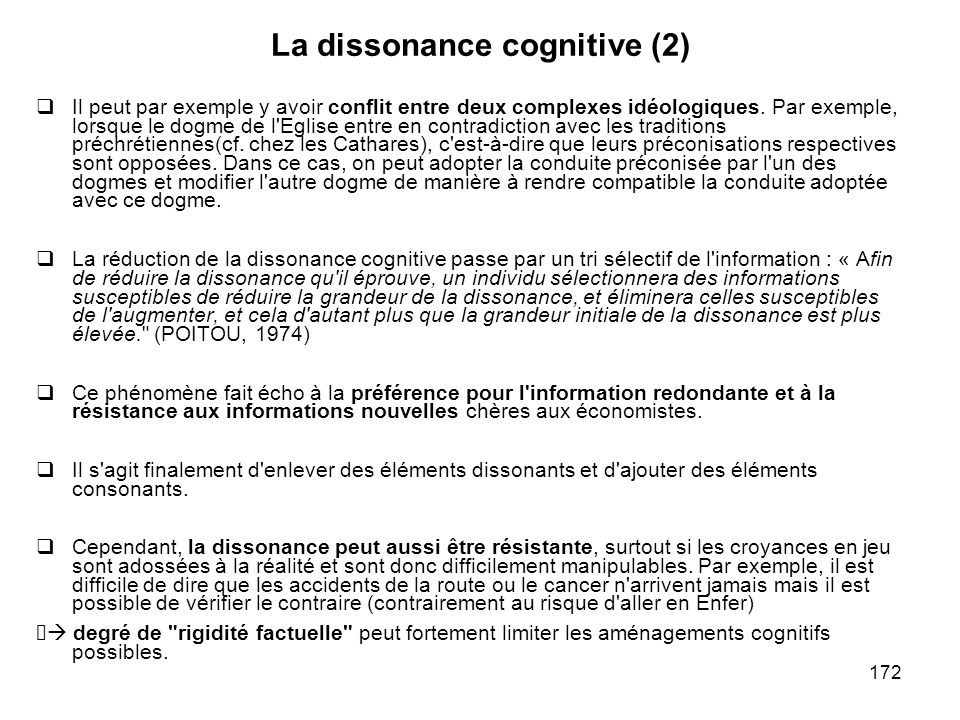 La dissonance cognitive (2)
