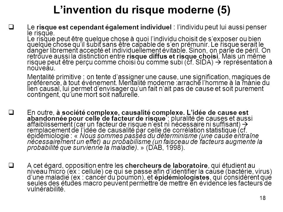 L'invention du risque moderne (5)