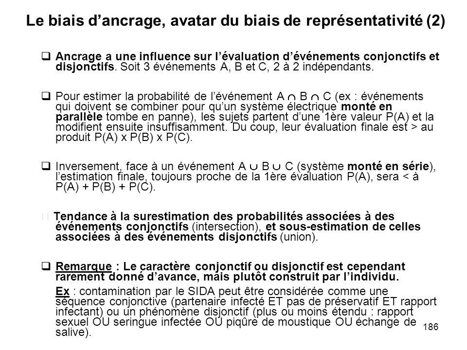 Le biais d'ancrage, avatar du biais de représentativité (2)