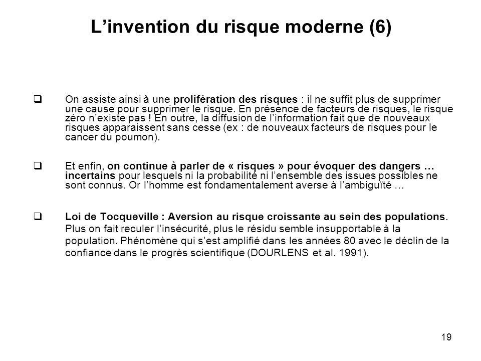L'invention du risque moderne (6)