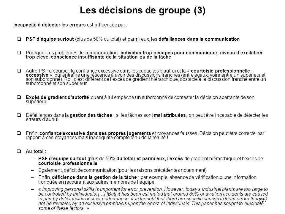 Les décisions de groupe (3)