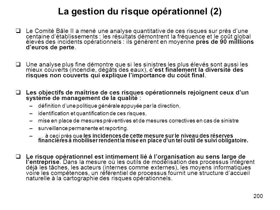 La gestion du risque opérationnel (2)