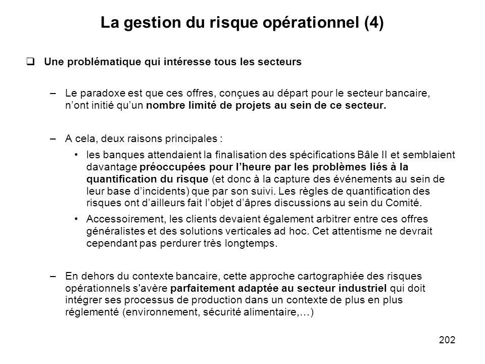 La gestion du risque opérationnel (4)