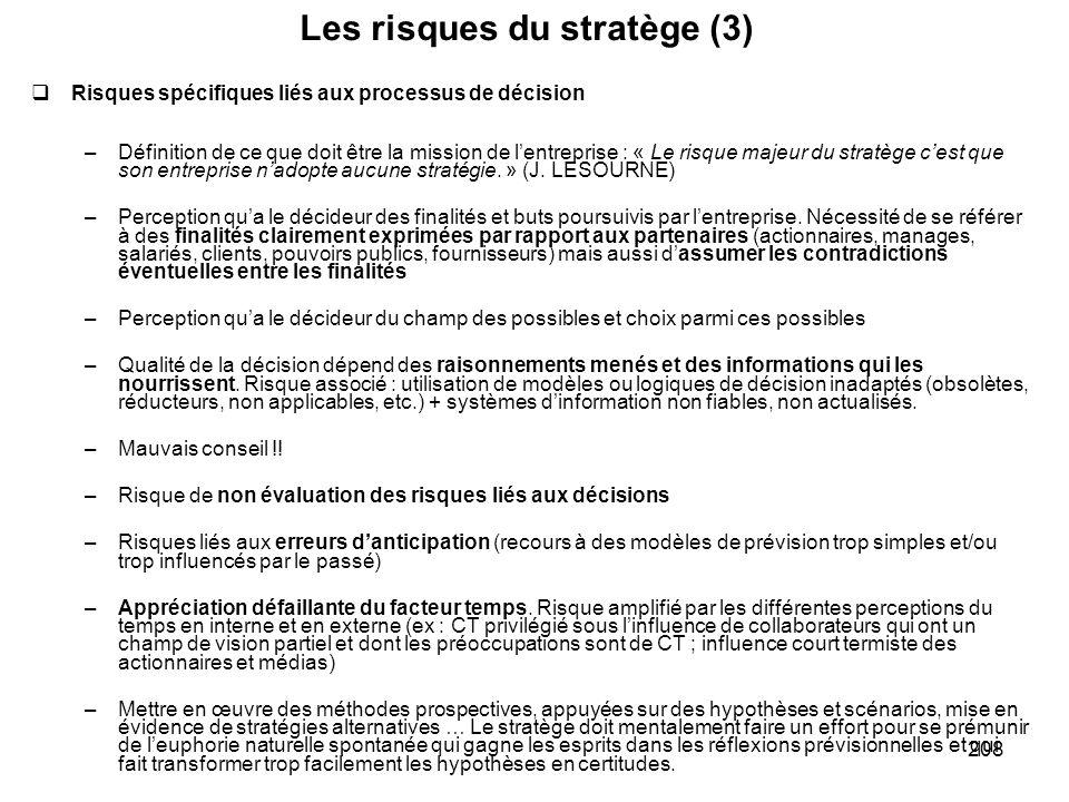 Les risques du stratège (3)