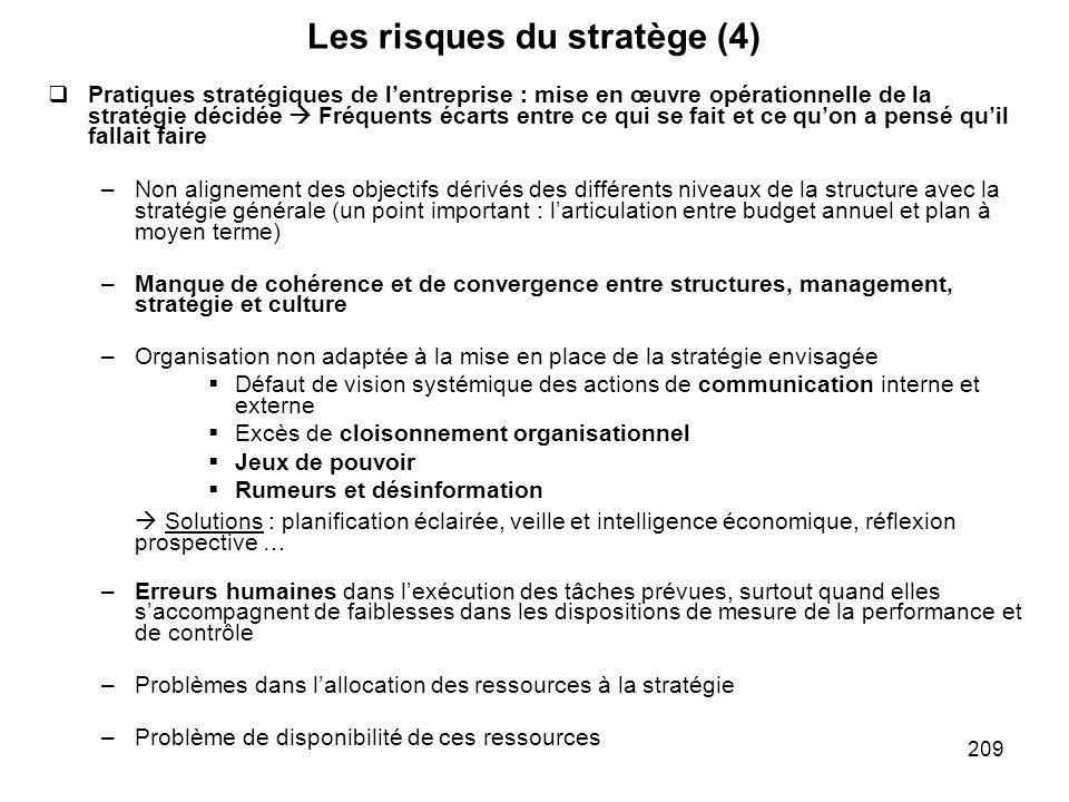 Les risques du stratège (4)