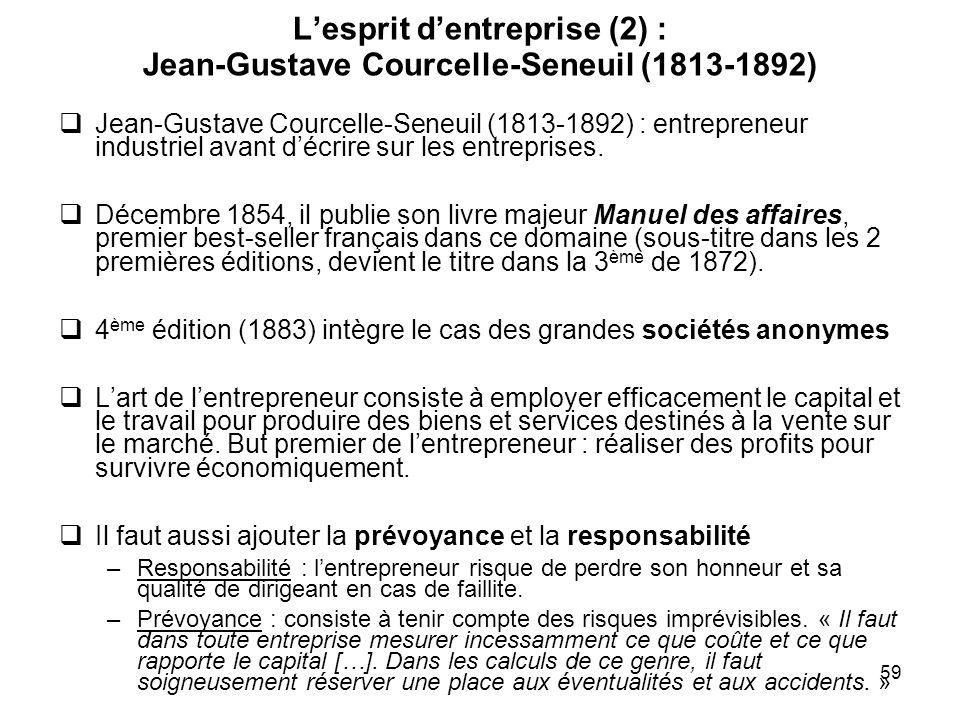 L'esprit d'entreprise (2) : Jean-Gustave Courcelle-Seneuil (1813-1892)