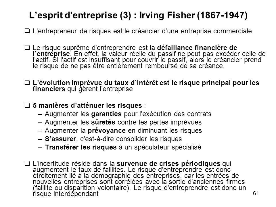 L'esprit d'entreprise (3) : Irving Fisher (1867-1947)