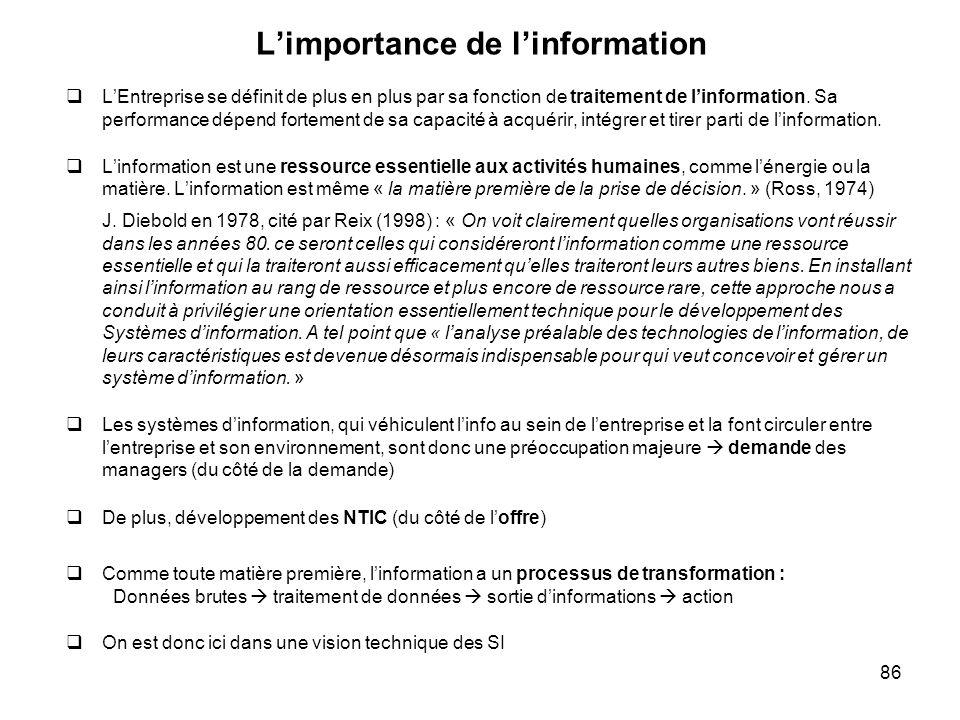 L'importance de l'information