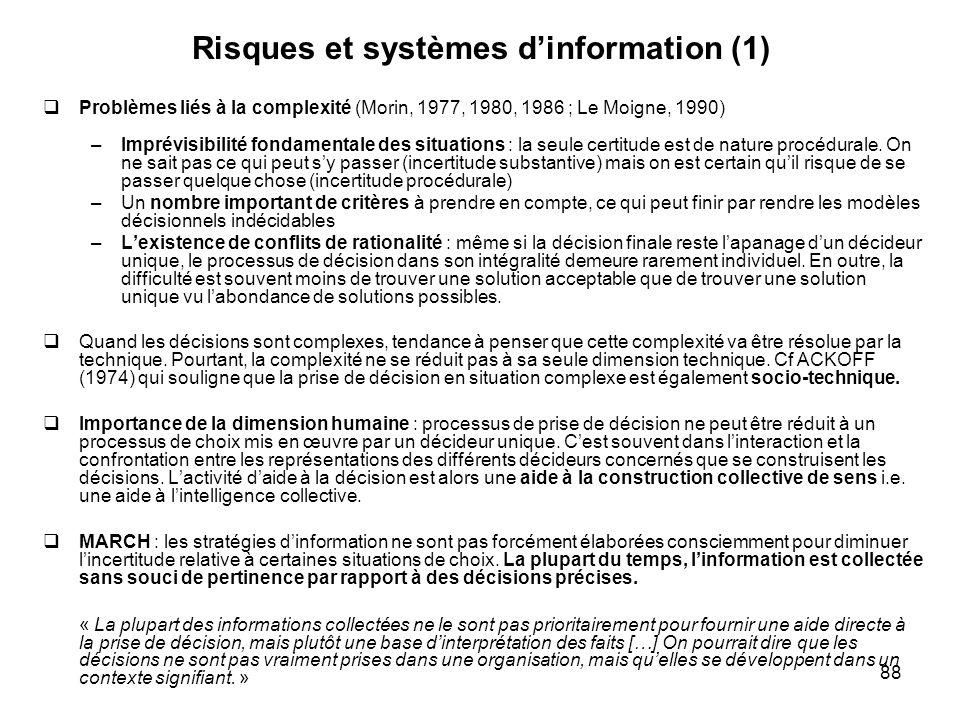 Risques et systèmes d'information (1)