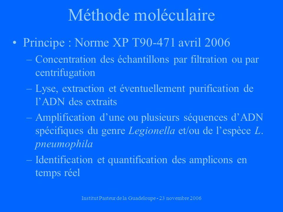 Institut Pasteur de la Guadeloupe - 23 novembre 2006