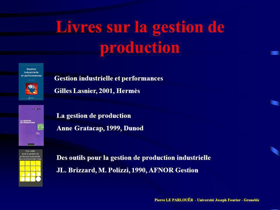 Livres sur la gestion de production
