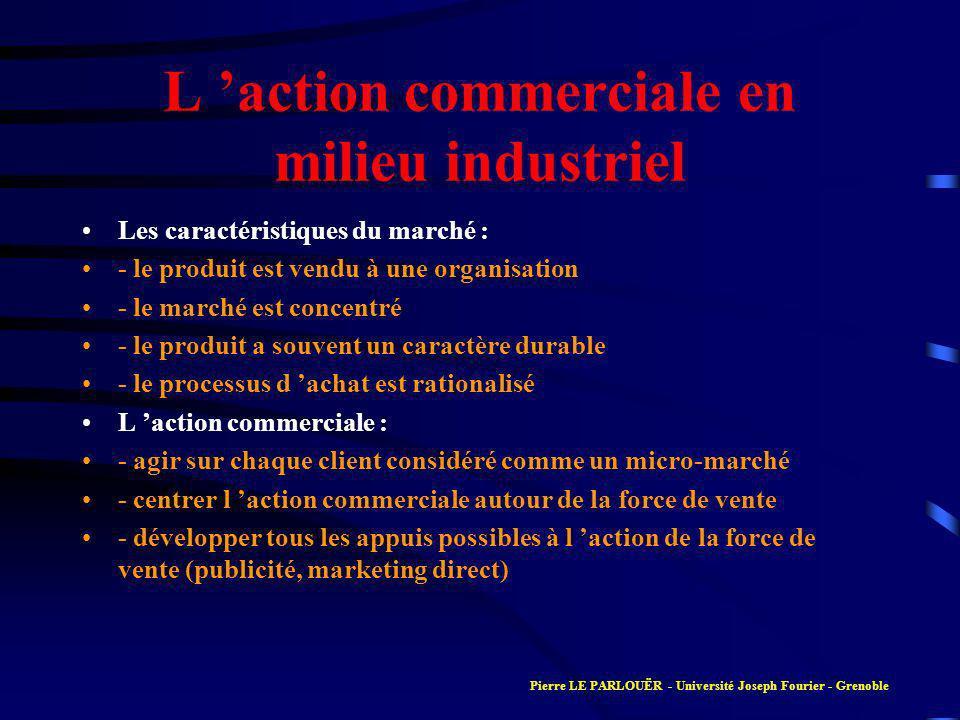 L 'action commerciale en milieu industriel