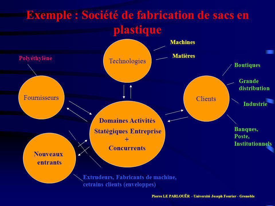 Exemple : Société de fabrication de sacs en plastique