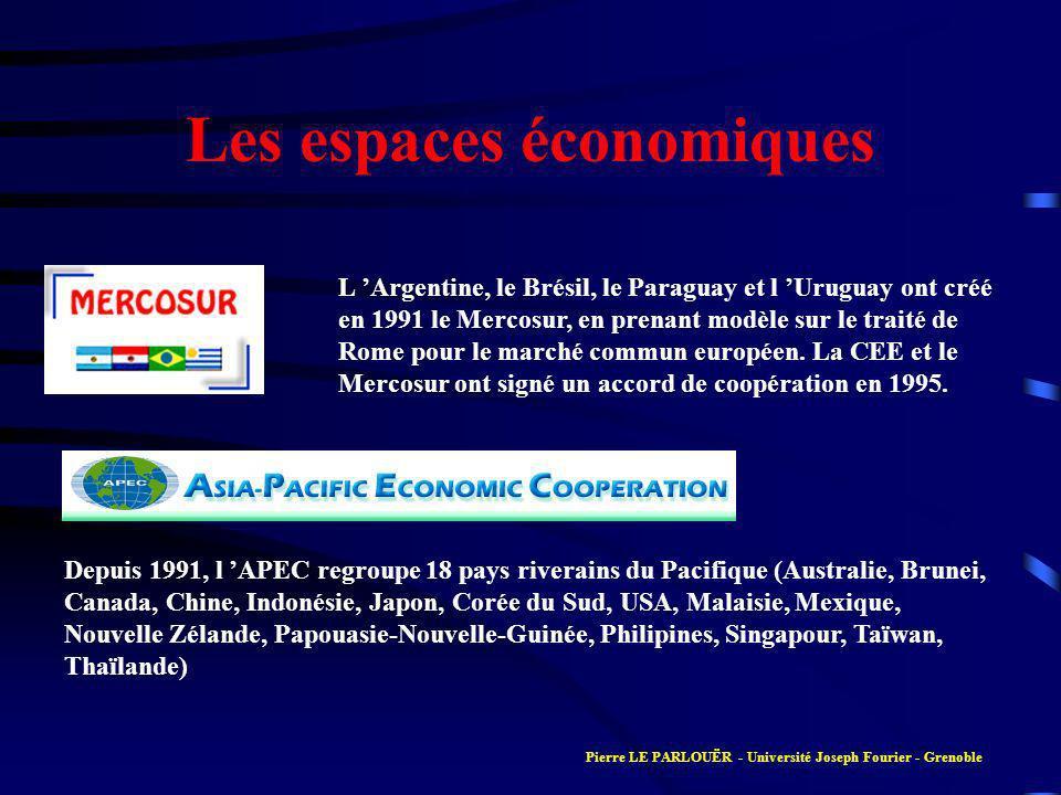 Les espaces économiques