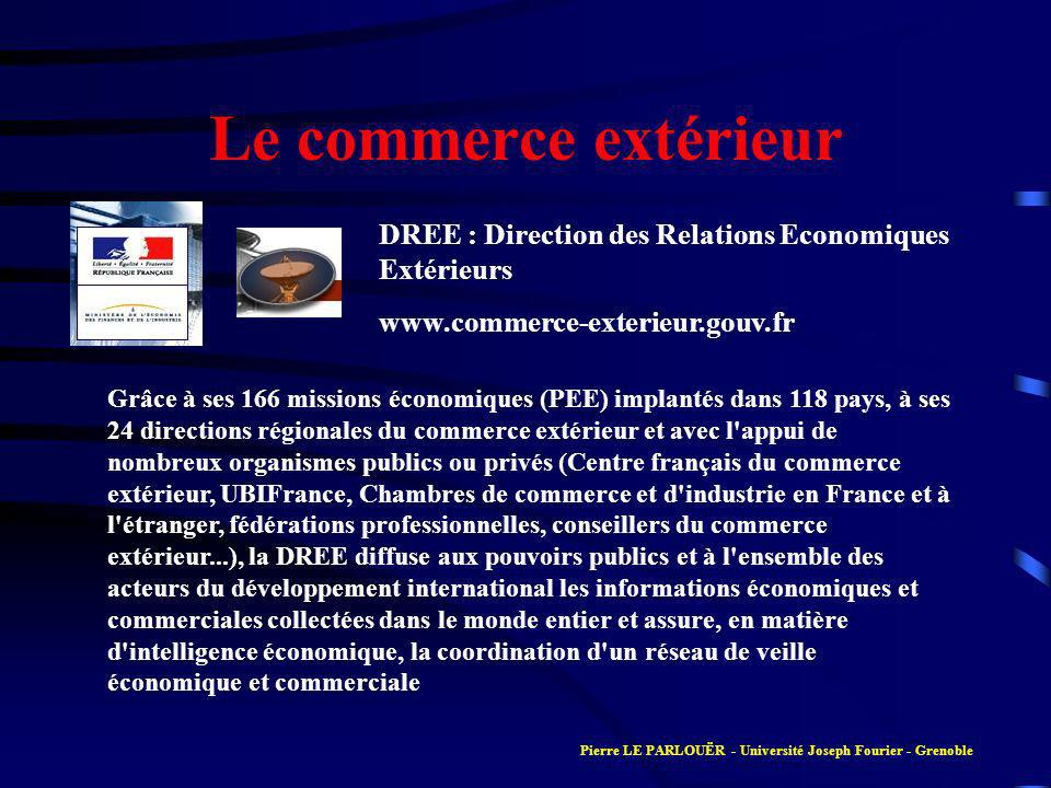 Le commerce extérieur DREE : Direction des Relations Economiques Extérieurs. www.commerce-exterieur.gouv.fr.