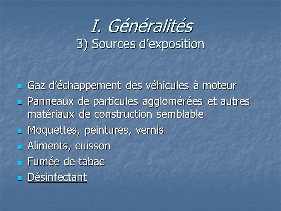 I. Généralités 3) Sources d'exposition
