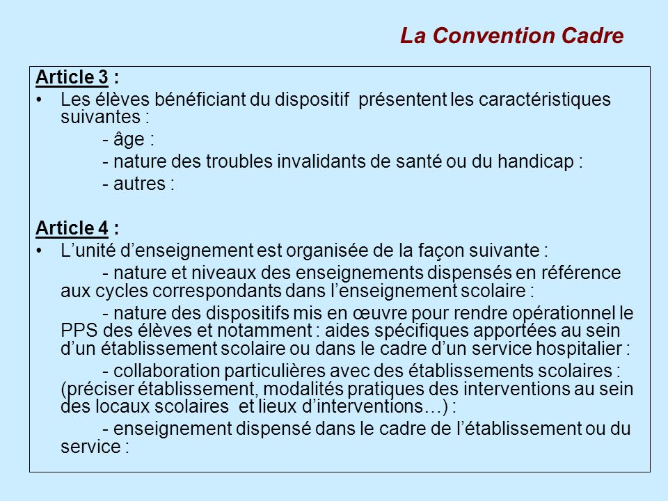 La Convention Cadre Article 3 :
