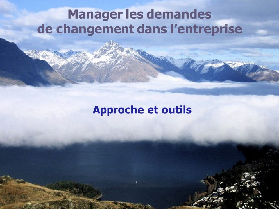de changement dans l'entreprise