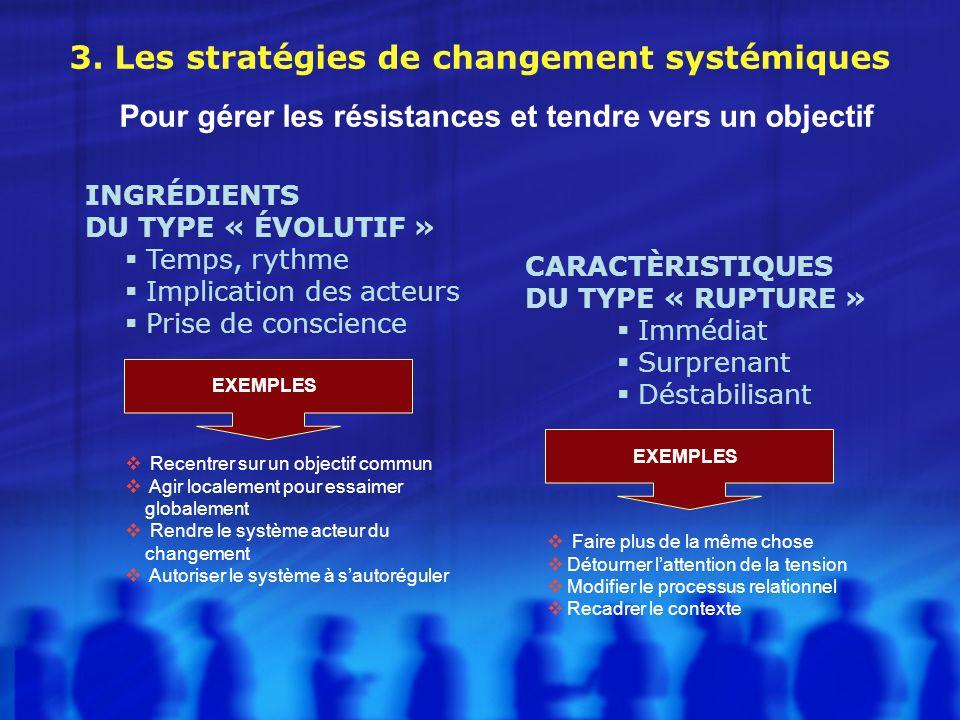 3. Les stratégies de changement systémiques