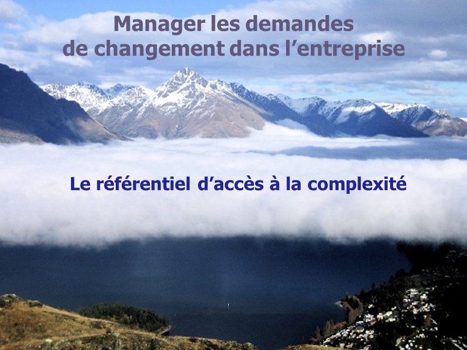 de changement dans l'entreprise Le référentiel d'accès à la complexité