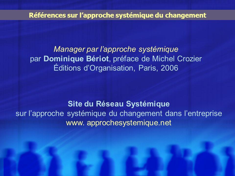 Références sur l'approche systémique du changement