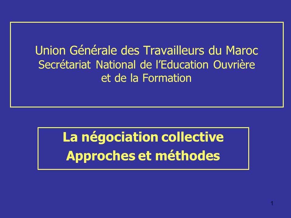 La négociation collective Approches et méthodes