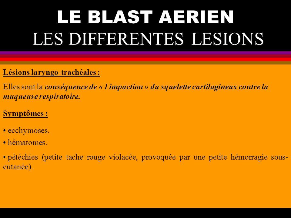 LE BLAST AERIEN LES DIFFERENTES LESIONS