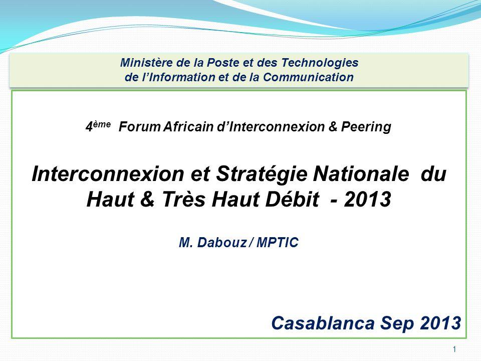 Interconnexion et Stratégie Nationale du Haut & Très Haut Débit - 2013