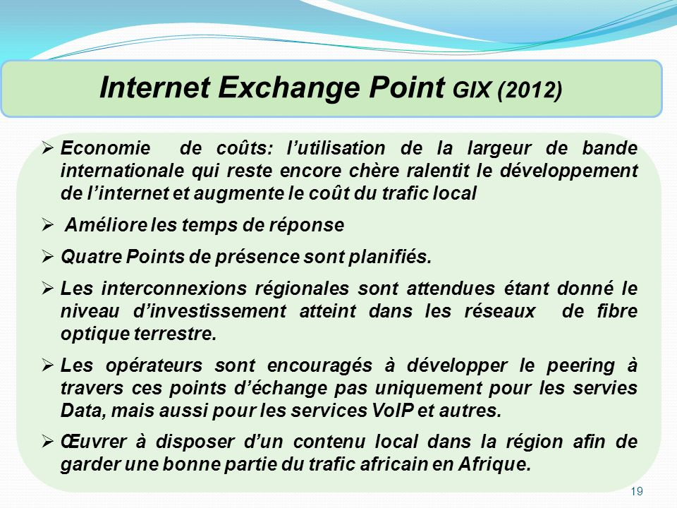 Internet Exchange Point GIX (2012)