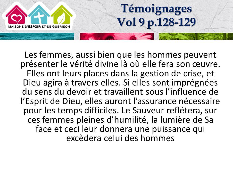 Témoignages Vol 9 p.128-129.