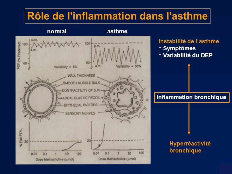 Rôle de l inflammation dans l asthme