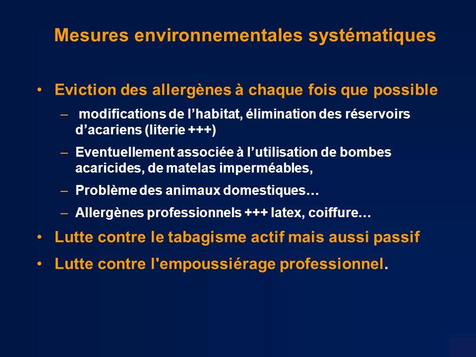 Mesures environnementales systématiques