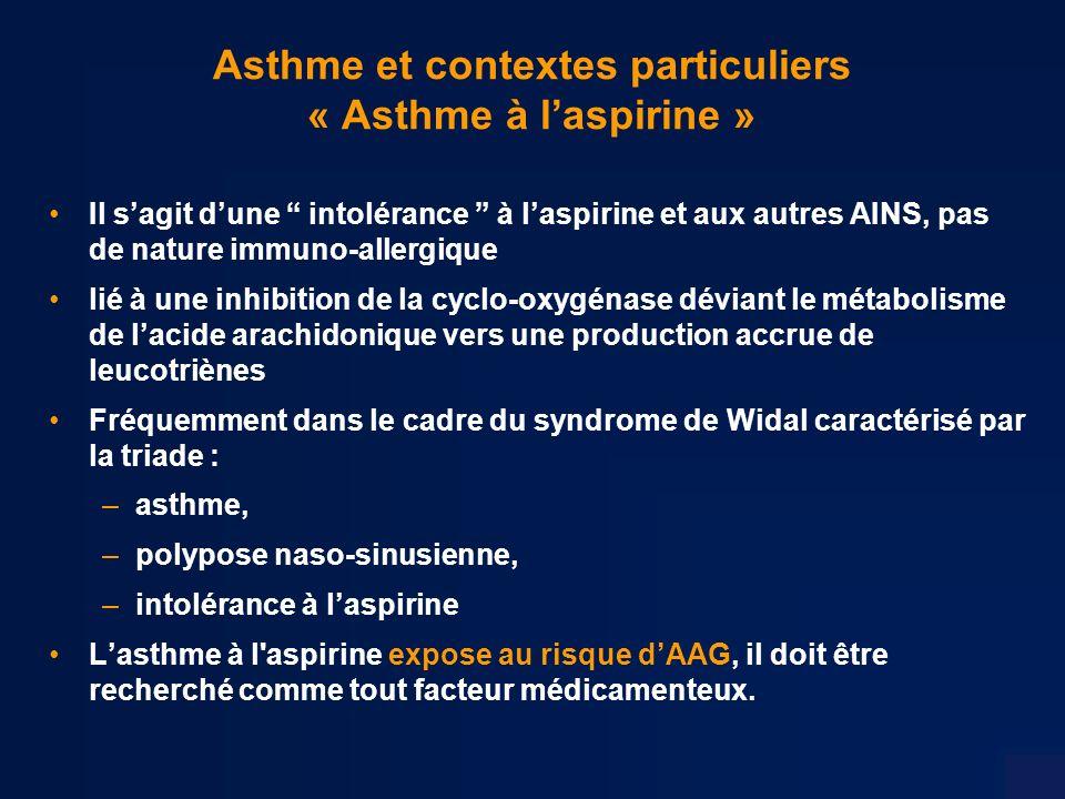 Asthme et contextes particuliers « Asthme à l'aspirine »