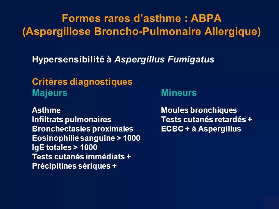 Formes rares d'asthme : ABPA (Aspergillose Broncho-Pulmonaire Allergique)
