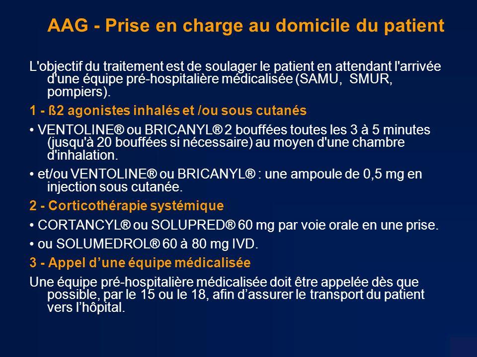 AAG - Prise en charge au domicile du patient