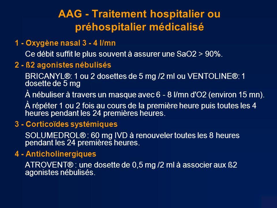 AAG - Traitement hospitalier ou préhospitalier médicalisé