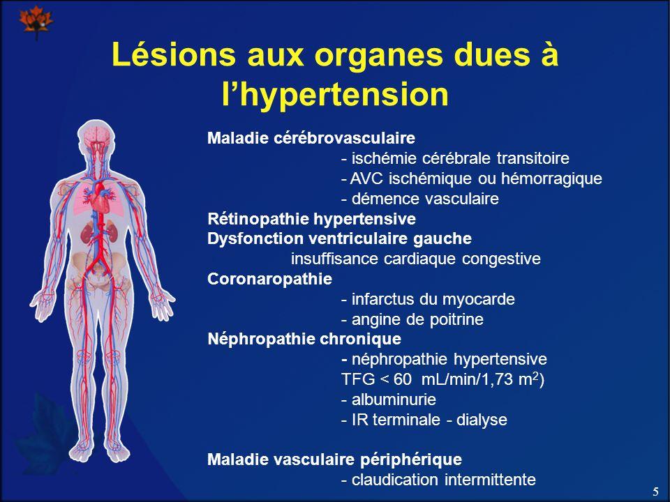 Lésions aux organes dues à l'hypertension