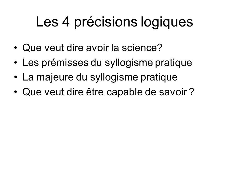 Les 4 précisions logiques