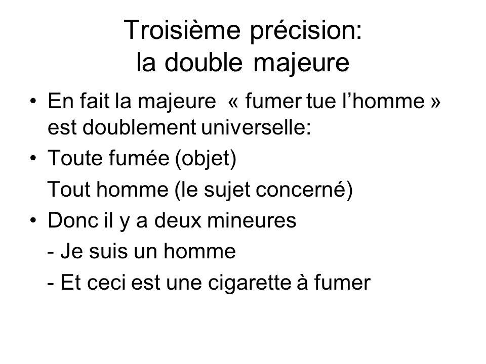 Troisième précision: la double majeure