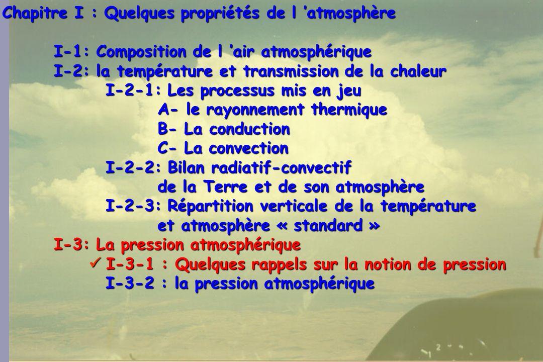 Chapitre I : Quelques propriétés de l 'atmosphère