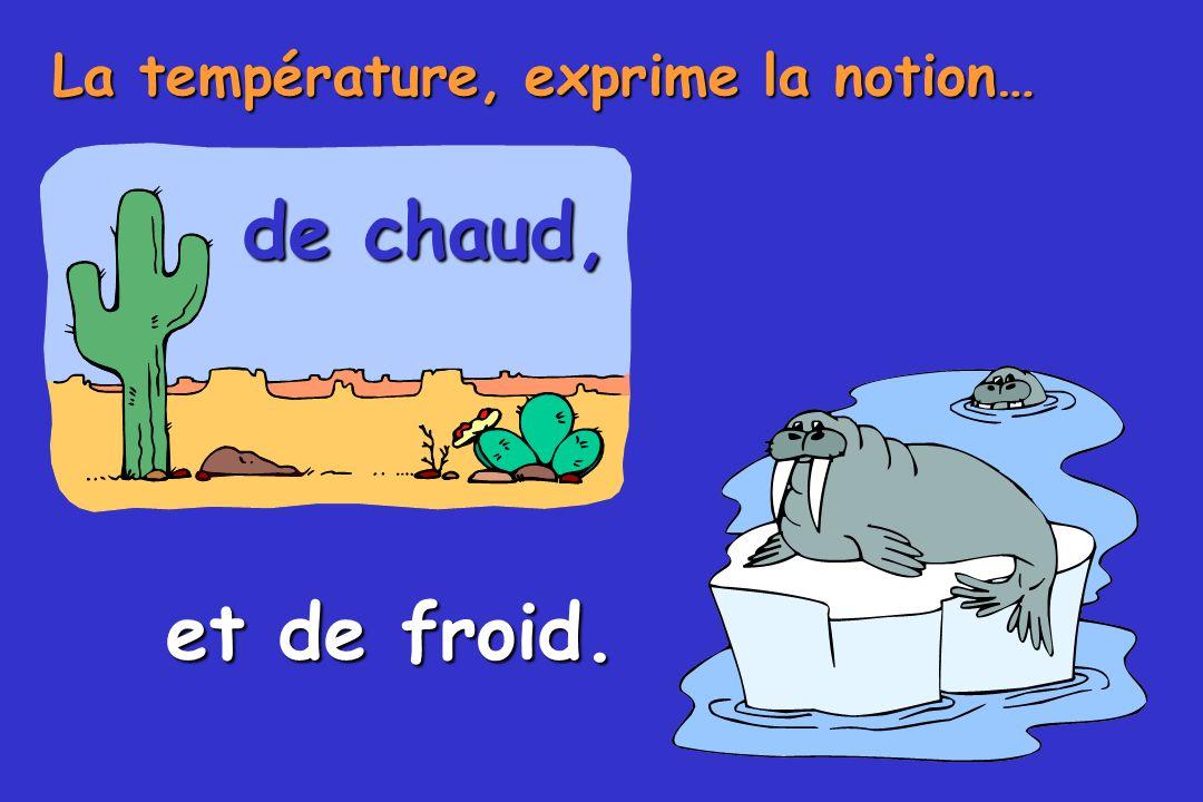 La température, exprime la notion…