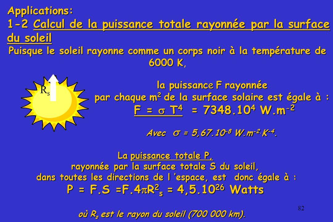 où Rs est le rayon du soleil (700 000 km).