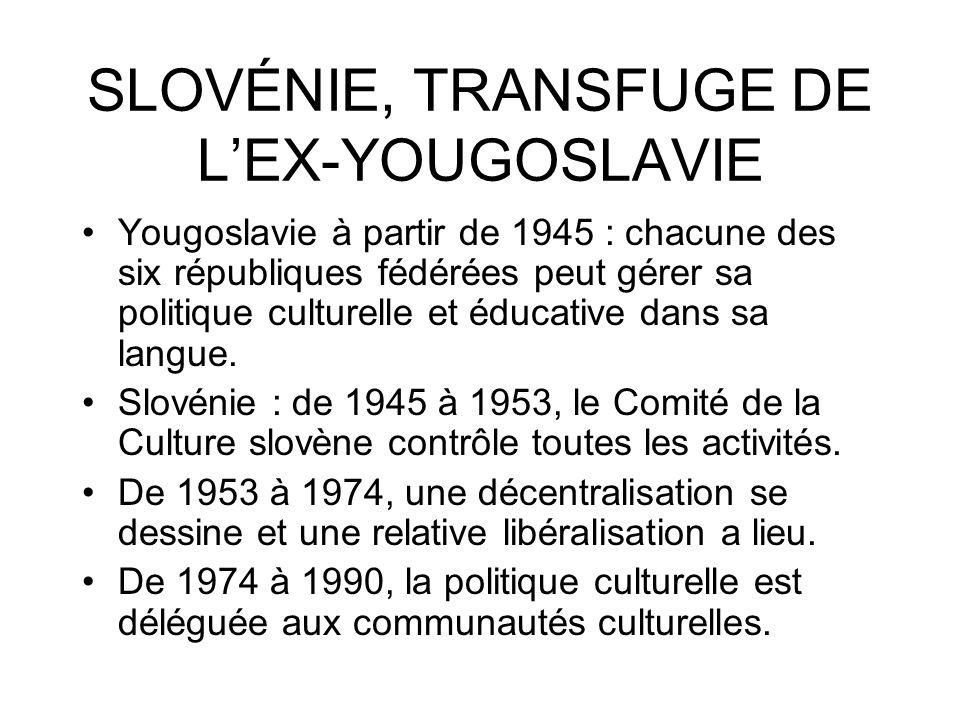 SLOVÉNIE, TRANSFUGE DE L'EX-YOUGOSLAVIE