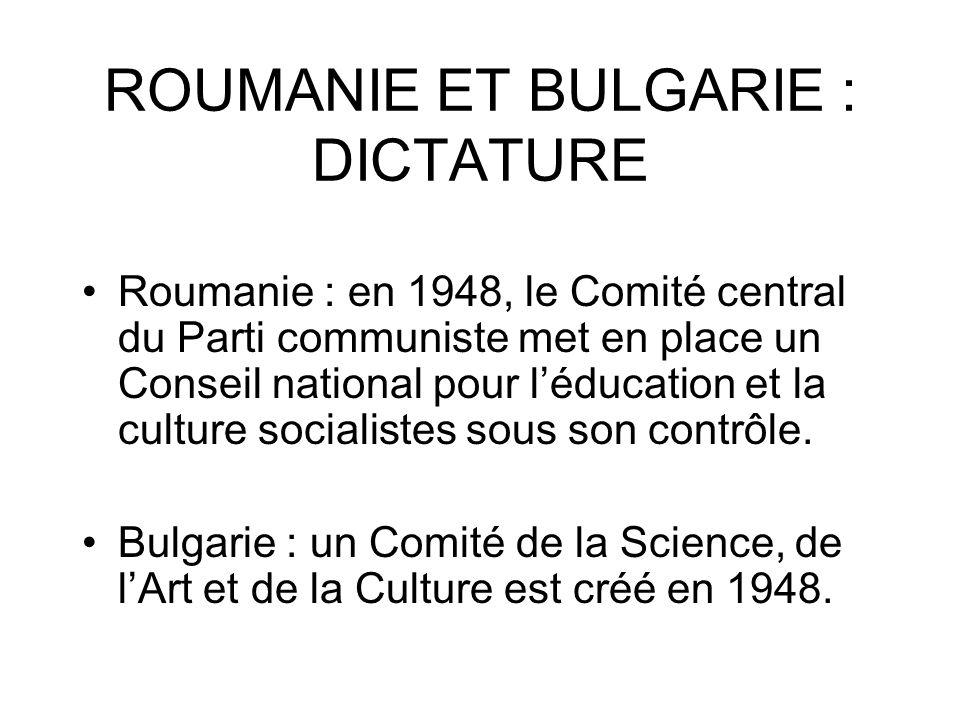 ROUMANIE ET BULGARIE : DICTATURE