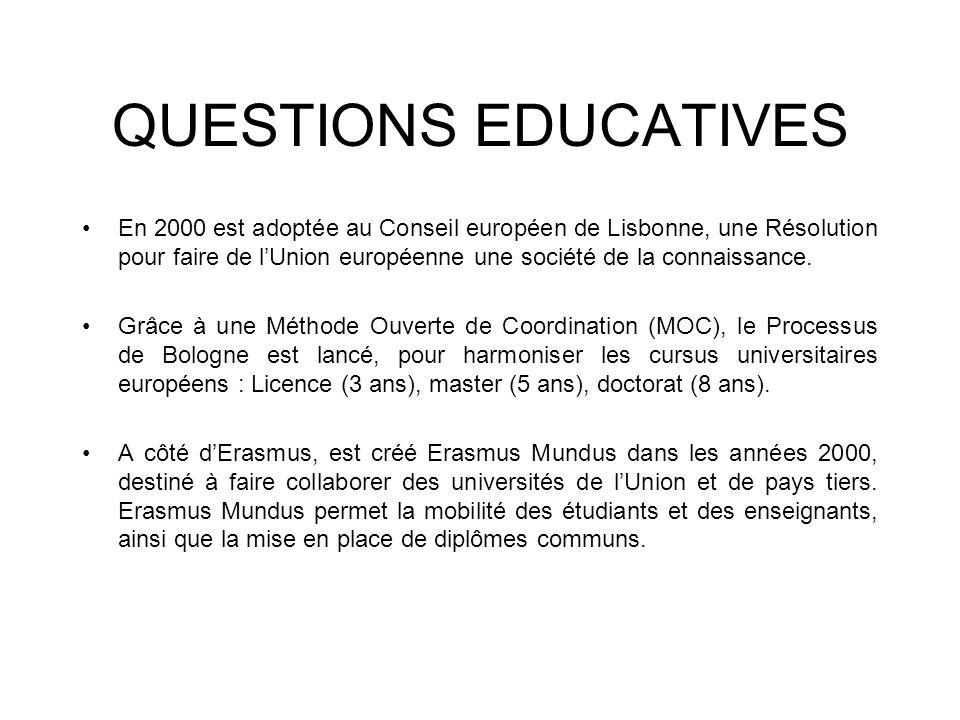 QUESTIONS EDUCATIVES