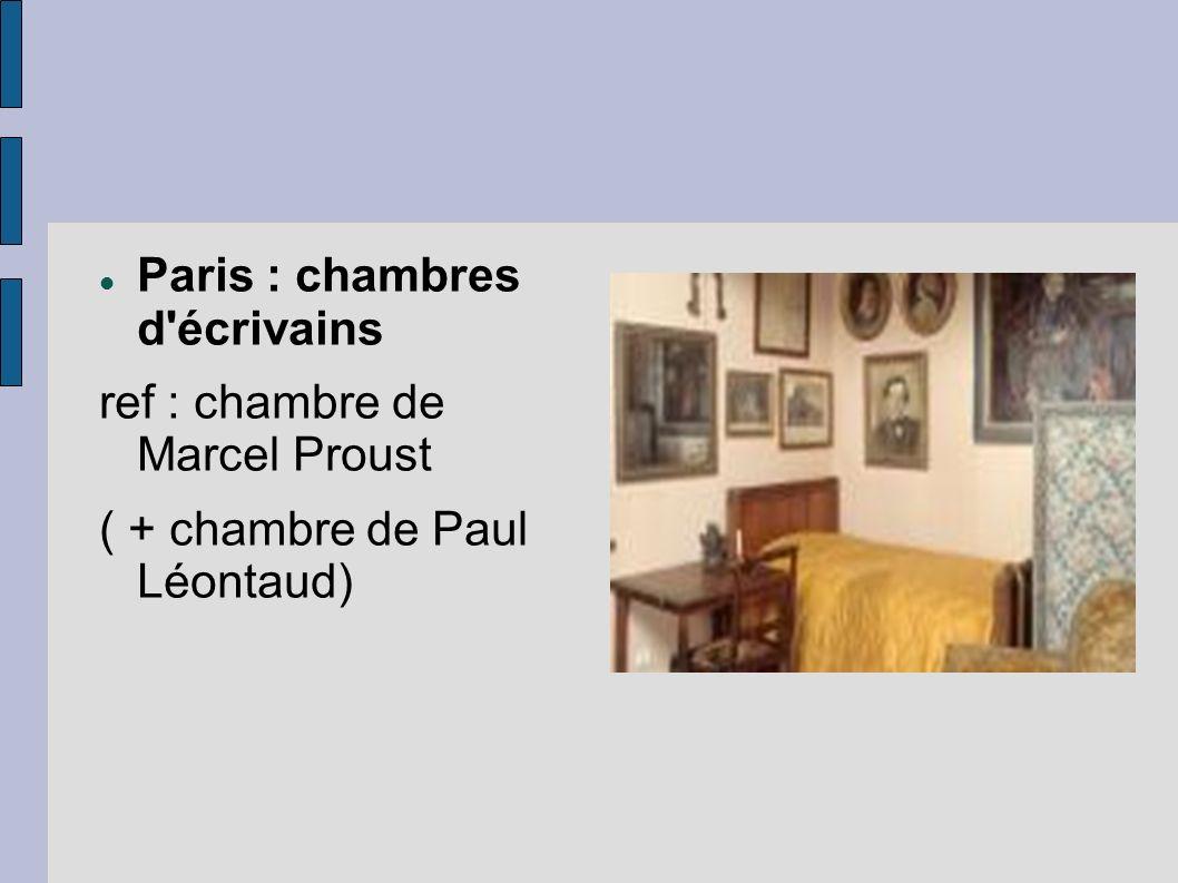 Paris : chambres d écrivains