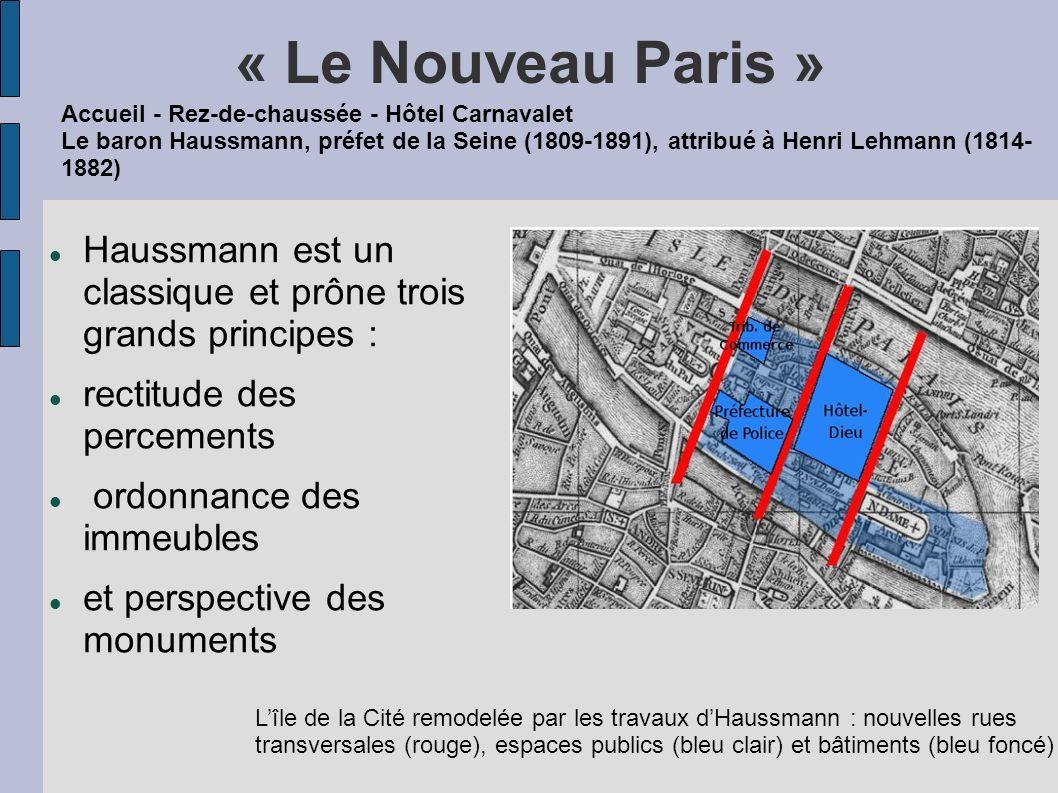 « Le Nouveau Paris » Accueil - Rez-de-chaussée - Hôtel Carnavalet.